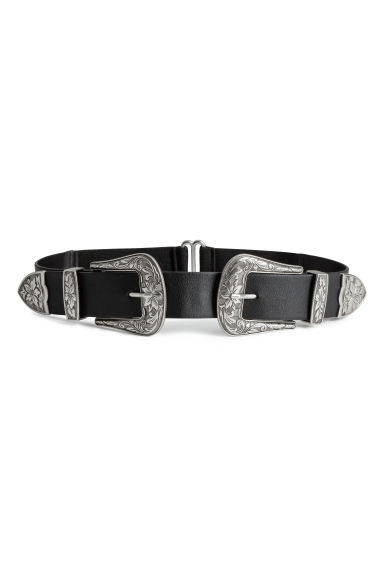 Waist belt - Black/Silver-coloured - Ladies | H&M IE