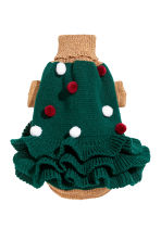 Jacquard-knit dog jumper - Dark green/Christmas tree - Ladies | H&M IE 2