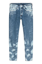 Trashed Skinny Jeans - Denim blue/Bleached - Men | H&M CN 3