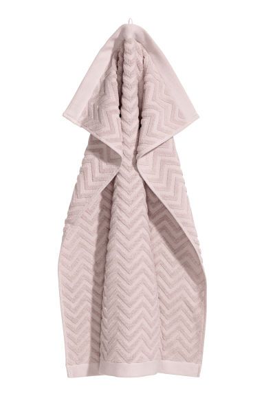 Jacquard-patterned towel - Dusky pink - Home All | H&M IE 1