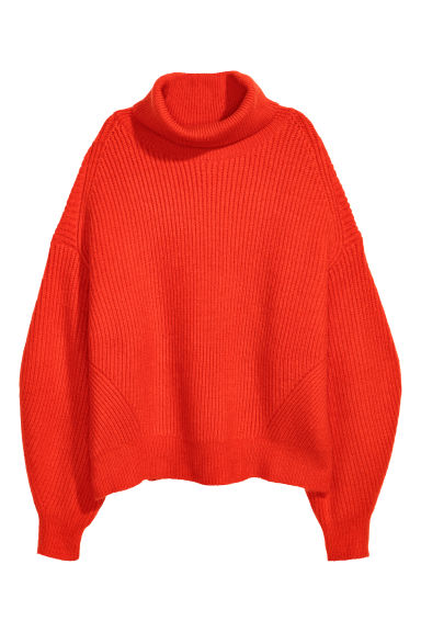 Knitted jumper - Bright red - Ladies | H&M IE