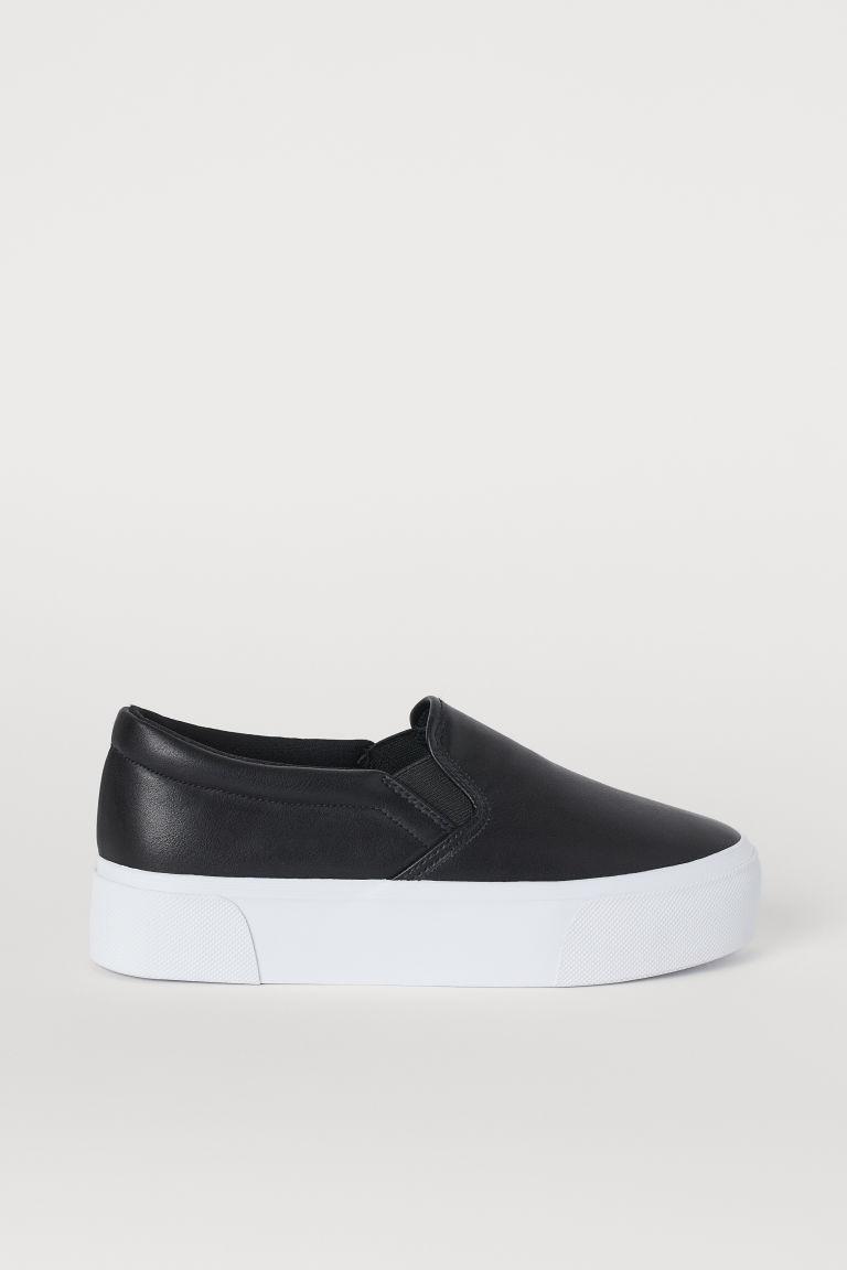 Slip-on platform trainers - Black -  | H&M GB