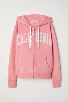 Hooded Jacket with Text Print