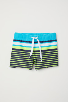 Patterned swimming trunks
