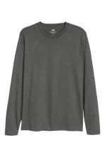 Top de manga larga Regular fit - Gris oscuro jaspeado - HOMBRE | H&M ES 2