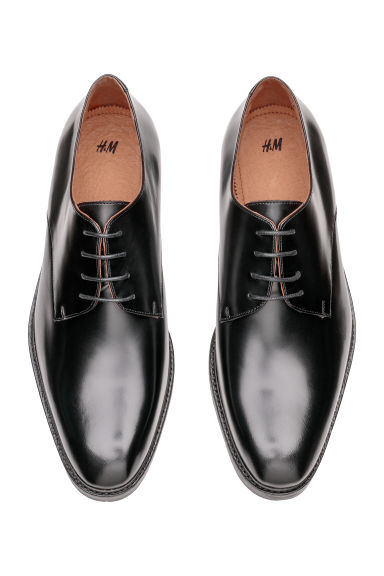 Leather Derby shoes - Black -  | H&M IE