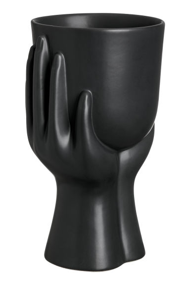 Vase en grès - Noir - Home All | H&M CA