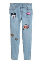 Boyfriend Low Jeans - Light denim blue/Mickey Mouse - Ladies | H&M 3