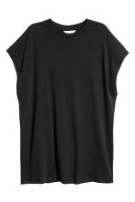 Pima cotton top - Black - Ladies | H&M CN 2