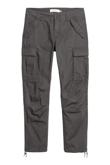 Cargo trousers - Anthracite grey - Men | H&M CN