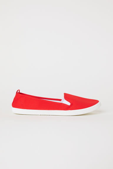 Slip-on trainers - Bright red - Ladies | H&M CN