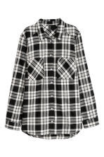 Checked shirt - Black/Checked - Ladies | H&M GB 2