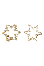 2-pack cookie cutters - Gold-coloured/Star - Home All | H&M GB 1