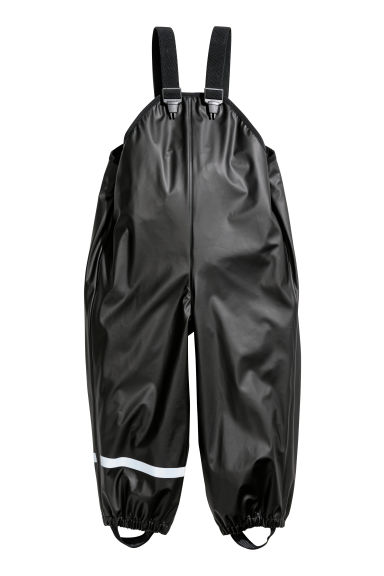 Rain trousers with braces - Black - Kids | H&M