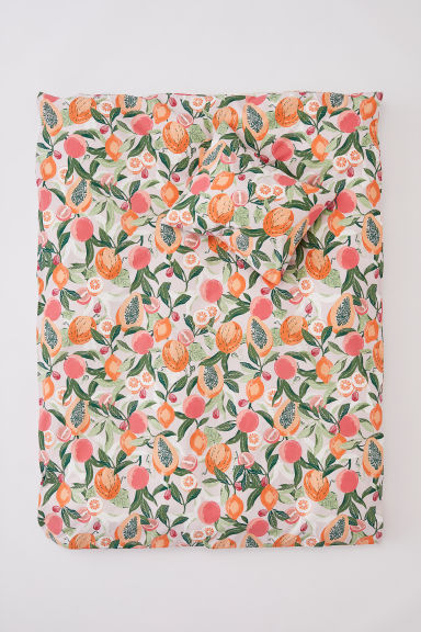 Patterned duvet cover set - Old rose/Patterned - Home All | H&M CN