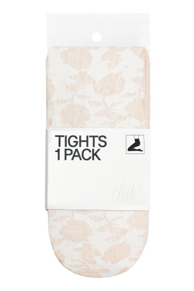 Lace tights - Light beige - Ladies | H&M