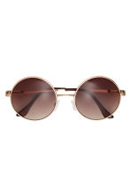 Round sunglasses - Gold - Ladies | H&M GB 1