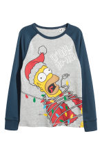 Jersey pyjamas - Dark blue/The Simpsons -  | H&M CN 2