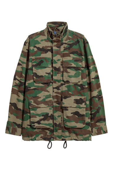 Parka corto - Verde scuro/fantasia -  | H&M IT