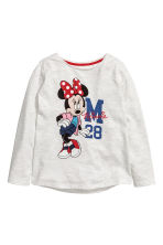 2-pack long-sleeved tops - Grey/Minnie Mouse -  | H&M 2