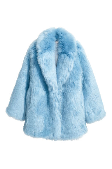 Faux fur jacket - Light blue - Ladies | H&M GB