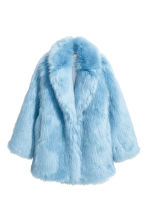 Faux fur jacket - Light blue - Ladies | H&M 2