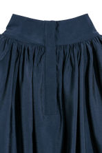 Balloon-sleeved blouse - Dark blue - Ladies | H&M 3