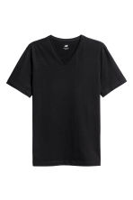 T-shirt scollo a V Slim fit - Nero - UOMO | H&M IT 2