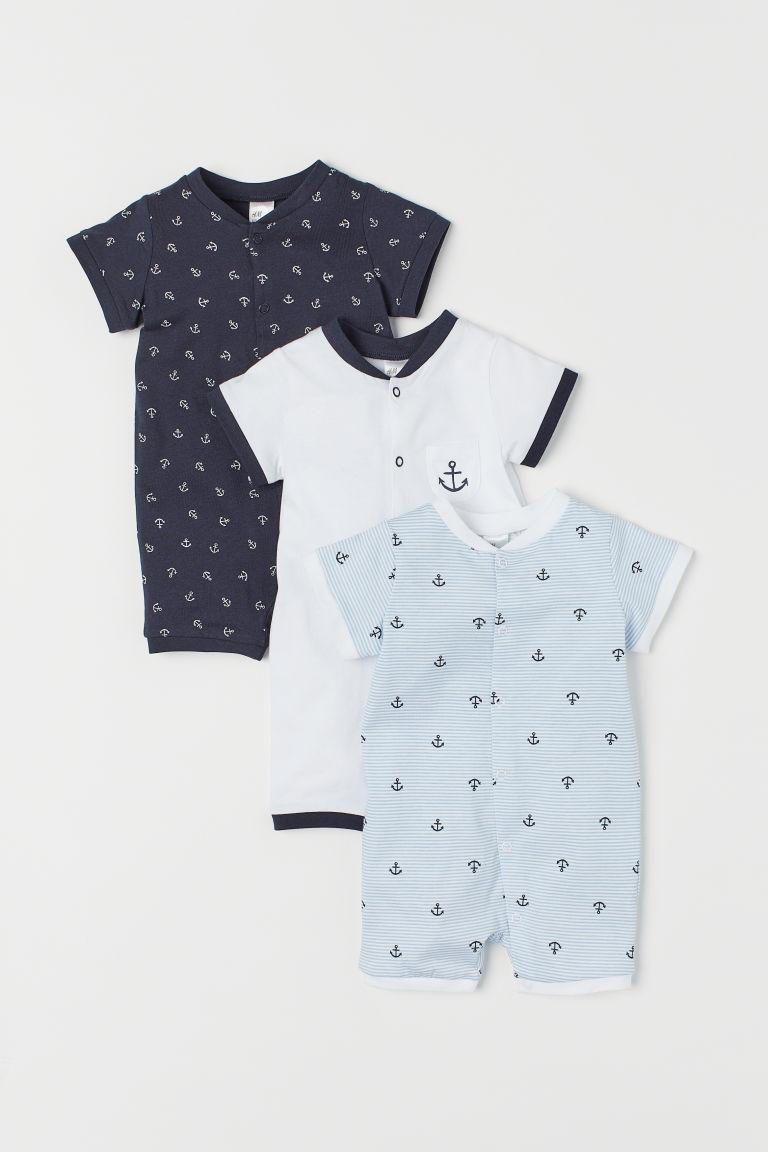 3-pack Cotton Jumpsuits