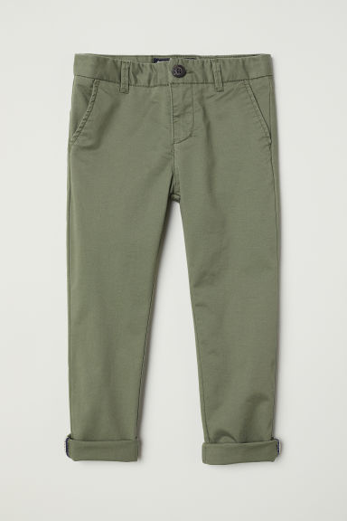 Cotton chinos - Khaki green - Kids | H&M GB