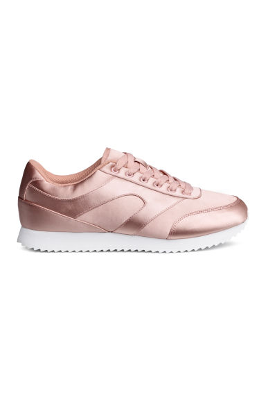 Baskets en satin - Rose poudré -  | H&M FR
