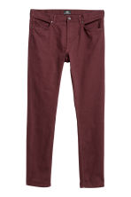 Twill trousers Skinny fit - Burgundy - Men | H&M CN 3