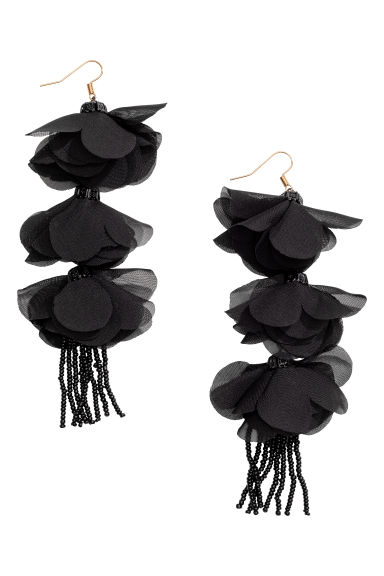 Long earrings - Black - Ladies | H&M