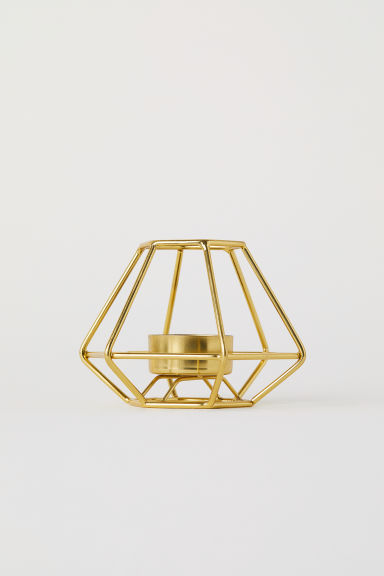 Metal tealight holder - Gold - Home All | H&M CN