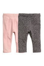 2-pack leggings - Puderrosa/Prickig - Kids | H&M FI 1