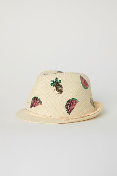Straw hat - Natural/Fruit -  | H&M