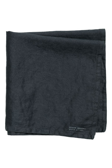 Washed linen napkin - Anthracite grey - Home All | H&M GB