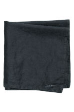 Washed linen napkin - Anthracite grey - Home All | H&M GB 1