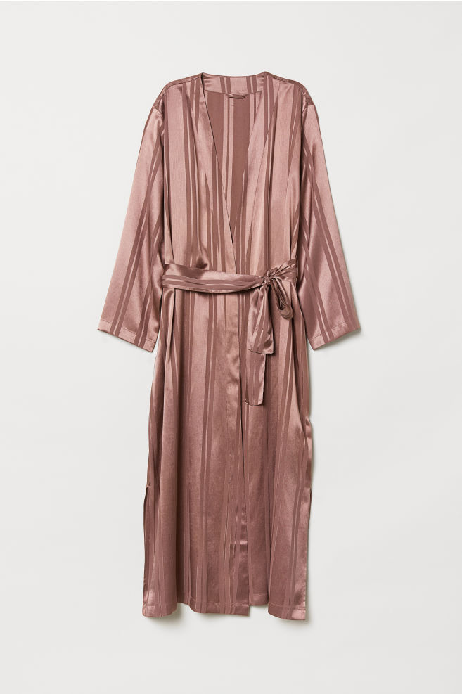 Chiffon dressing gown - Dark pink - Home All | H&M IE