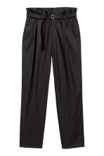 Wide trousers with a belt - Black - Men | H&M 2
