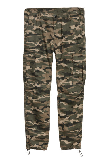 Cargo trousers - Khaki green -  | H&M