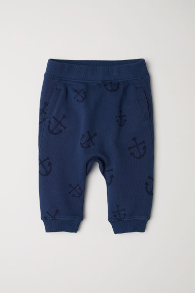 Patterned joggers - Dark blue/Anchors - Kids | H&M CN