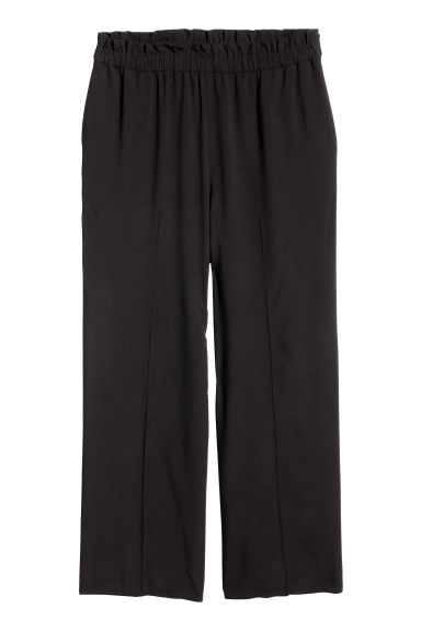 H&M+ Wide pull-on trousers - Black - Ladies | H&M CN