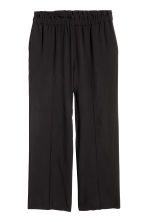 H&M+ Wide pull-on trousers - Black - Ladies | H&M IE 2