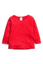 3-pack jersey tops - Bright red/Rabbit - Kids | H&M 3