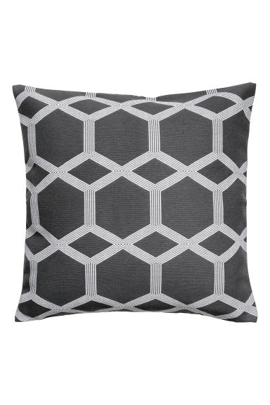 Jacquard-weave cushion cover - Anthracite grey - Home All | H&M IE 1