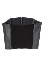 Corset top - Black -  | H&M IE 3