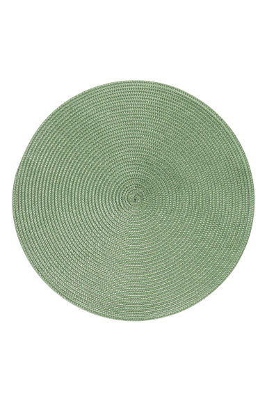 2-pack straw table mats - Lime green - Home All | H&M CN