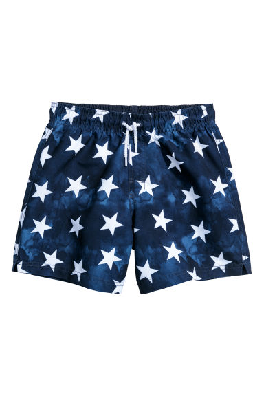 Swim shorts - Dark blue/Stars - Kids | H&M CN