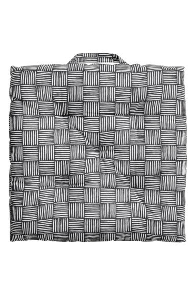 Cotton seat cushion - Dark grey/Patterned -  | H&M CN